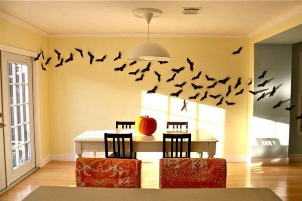 bats-swarm-wall-decor-ideas-for-halloween | Sacksteder\'s Interiors
