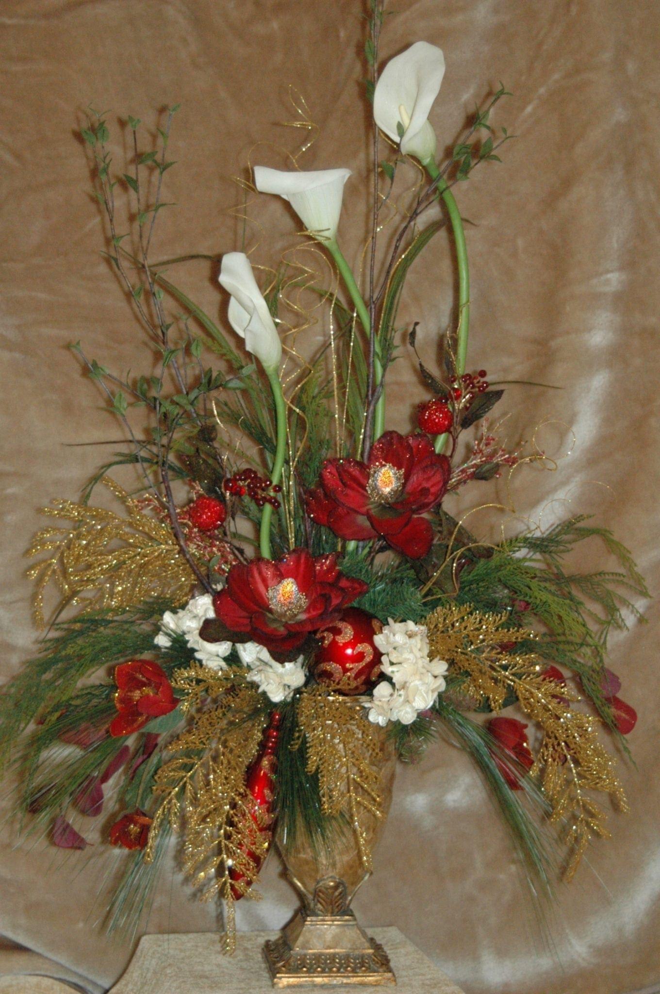 Christmas silk floral arrangements silk floral arrangements for home