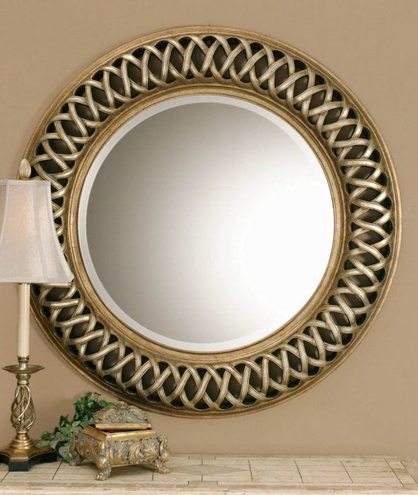 Wall mirrors decorative mirrors round mirrors sacksteder for Fancy mirror