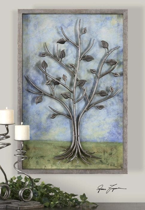 Description: Metal Tree On Painted Background Sky Line.jpg