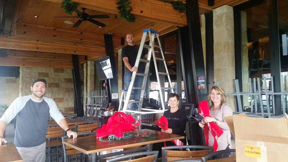 The Sacksteder's team setting up at Moerlein Lager House, Cincinnati