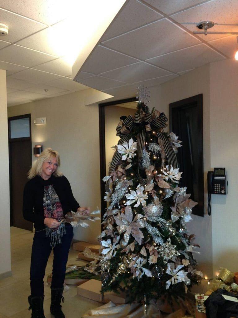 Karen Sacksteder in the B105 Lobby