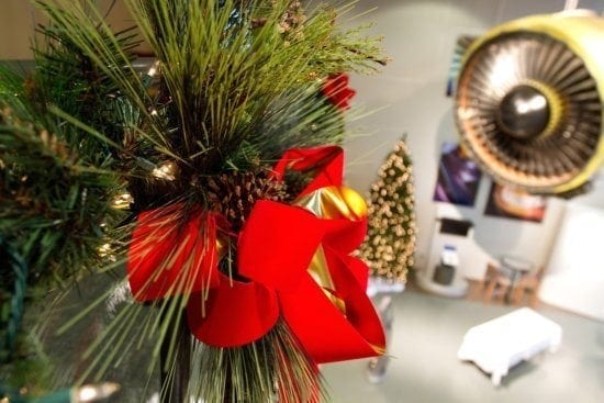 Sacksteders Interiors of Cincinnati can bring your business to life during the holiday with their decorating services.