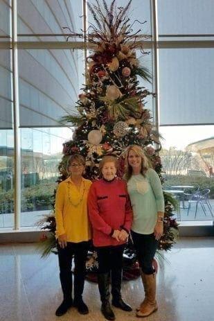 The Sacksteders Interiors of Cincinnati holiday decorating team.
