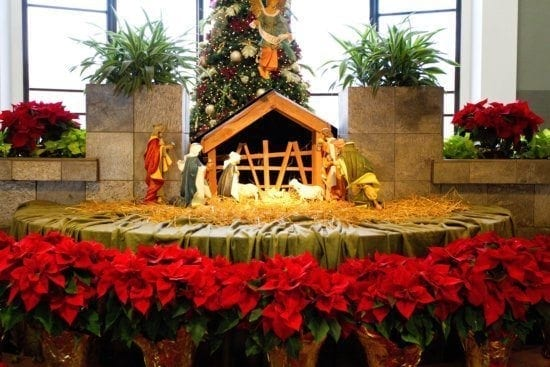 A beautiful Christmas display created by Sacksteders Interiors of Cincinnati, Ohio.